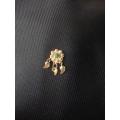 Süryani hızması 14 ayar altın el sanatı yeşil taşlı
