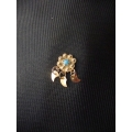 Süryani hızması 14 ayar altın el sanatı mavi taşlı