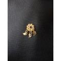 Süryani hızması  14 ayar altın el sanatı siyah taşlı