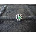 Süryani hızması pulsuz   yeşil taşlı otantik  gümüş