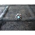 Süryani hızması pulsuz  mavi   taşlı  otantik gümüş