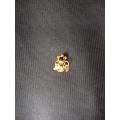 El sanatı hızma 14 Ayar altın Siyah taşlı üç yapraklı