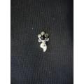 Mardin telkari hızma gümüş siyah taşlı