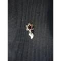 Mardin telkari el sanatı hızma Gümüş kırmızı taşlı