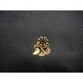 Mardin hızması altın 14 ayar el sanatı otantik siyah  taşlı
