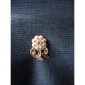 Burun delik olan  için gümüş hızma altın kaplama kristal taşlı