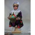 yöresel el sanatı meyve satan bebek boy 27 cm. en 12 cm.