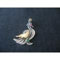 Tavuz kuşu kolyesi gümüş telkari sanatı ile yapılımış