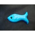 Firuze taşından yapılmış balık burcu genişlik 5 cm uzunluk 2 cm