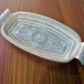 Telkari sanatıyla yapılmışi gümüş  tepsi