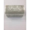 Telkari sanatı ile yapılmış mücevher kutusu gümüş
